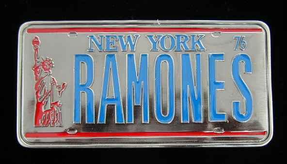 THE RAMONES LICENSE PLATE BELT BUCKLE LICENSED NEW!