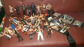 Wwe figures and belts