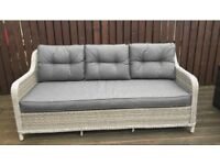 Outdoor grey Rattan sofa