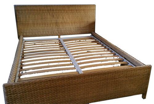 Habitat Wicker Double Bed Frame King Size