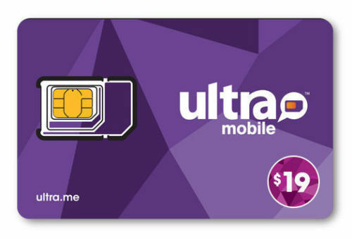 PreLoaded Ultra Mobile SIM Card with $19 Plan,1st Month Services included