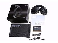 Betron Bluetooth Headphones, Wireless, 10m Range, Built in Microphone