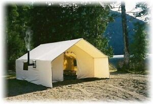 Wall Tents from Prairie Canvas. Pitch our tents anywhere.