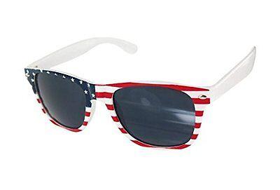 Womens Retro American Flag Sunglasses Lightweight Floating Dark Lens
