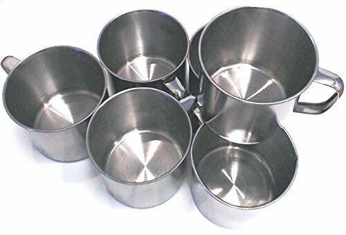 6 Pack Stainless Steel Coffee Soup Mug Tumbler Camping Mug Cup 12oz  2