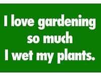 Give a local gardener a job!