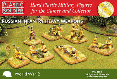 WW202004 - de Rusia Infantería Pesado Armas - Plástico Soldado Company -1/72