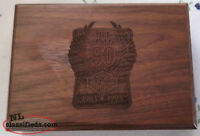 Harley Davidson Motorcycles Walnut Wooden Case / Zippo Lighter