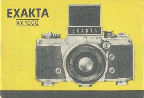 Exakta VX1000 Instruction Manual