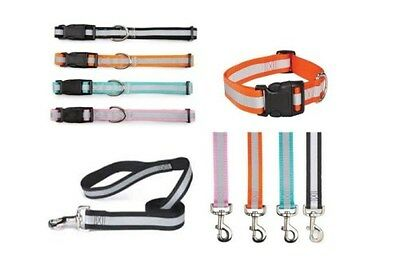 Guardian Gear Reflective Dog Collar - Leash Lead - Be Seen At Night - All Sizes