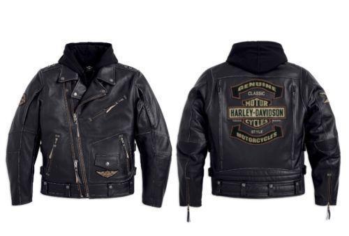 Harley Davidson Men S  In  Camo Leather Jacket