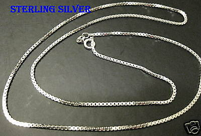"Sterling silver 0.70MM Mens  24"" Box chain necklace"