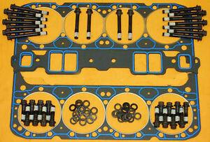 Fel-Pro Sbc Head Aluminum Gaskets Bolts Washers Felpro 1206 Gasket 1003 Kit Arp
