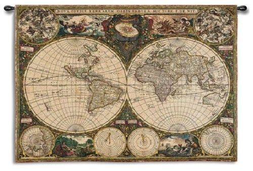 Old World Map Tapestry Ebay