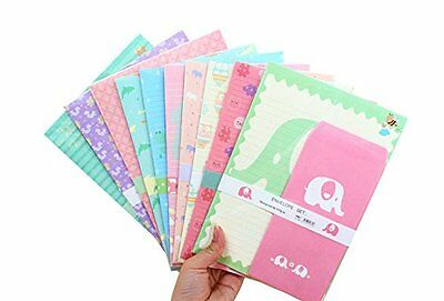 SCStyle 30 Cute Kawaii Cat Design Writing Stationery Paper with 15 Envelope
