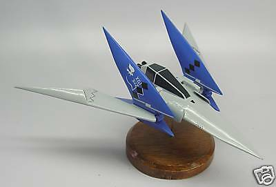 Arwing Lylat Wars Star Fox-64 Airplane Mahogany Kiln Dry Wood Model Large New