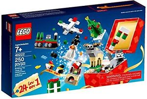 New LEGO Exclusive 40222, 24 miniature Christmas builds