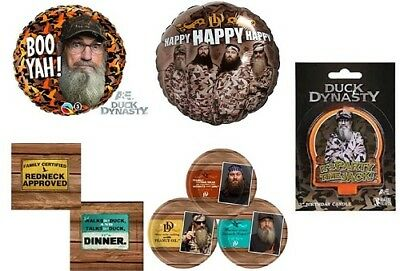 Duck Dynasty Party, balloon, plates, napkins, candle
