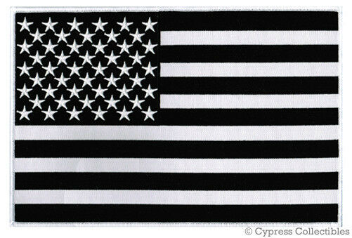 Large American Flag Black Embroidered Patch USA United State