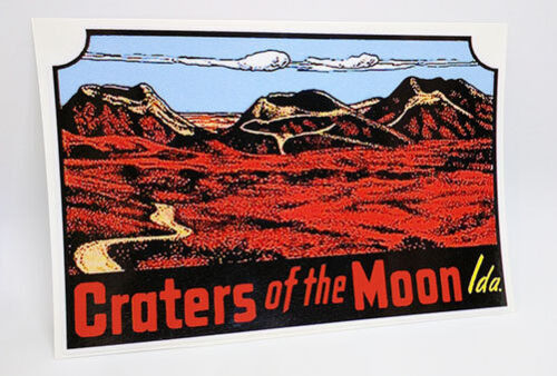 Craters of the Moon Idaho Vintage Style Travel Decal / Vinyl Sticker