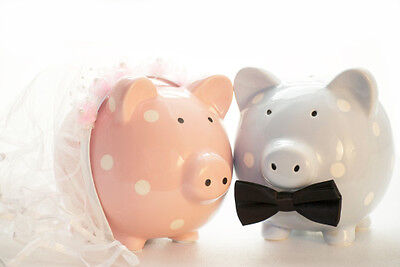 Most couples need to raid their piggy banks for their big day