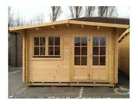 Brenzett Log Cabin - 4m x 4m (Twin Wall 44mm + 44mm)