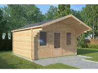 Beddingham log cabin - 4m x 4m - Skinners Sheds - Created by Nature - Built by Hand