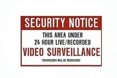 X10 MM023 Video Surveillance Security Warning Sign 11x7 inch