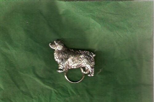 Clumber Spaniel Nickel Silver Eyeglass Holder Pin Jewelry