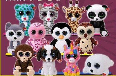 Ty Beanie Boos 15 cm original ty Glubschi´s große Augen Neuheiten zur Auswahl Beanie Boos Große