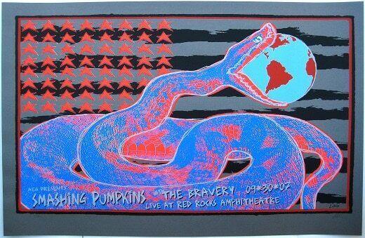 Smashing Pumpkins Concert Poster Lindsey Kuhn Rare