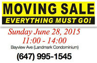 Moving Sale, Everything must go! June 28,2015