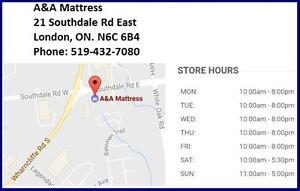 NEW DOUBLE MATTRESSES from $140 +Full BOXPRINGS $80. No Tax Sale London Ontario image 9