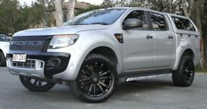 2014 Ford Ranger PX XL Double Cab Silver 6 Speed Sports Automatic Cab Chassis Southport Gold Coast City Preview