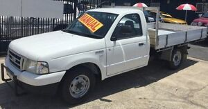 2006 Ford Courier PG TURBO DIESEL TRAYBACK UTE White 5 Speed Manual Utility Underwood Logan Area Preview