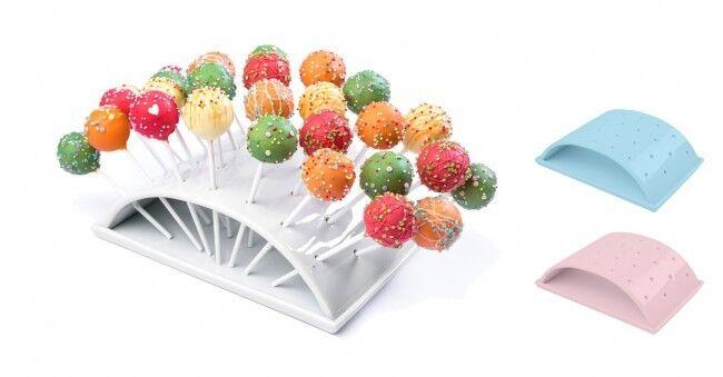 WELLGRO Porzellan Halter für 28 Cake Pops Kuchen Lolli am Stiel Popcake Ständer