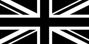UNION JACK BLACK & AND WHITE 8X5 FLAG United Kingdom HUGE ...