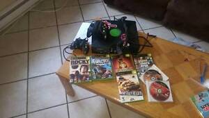 Xbox, controllers and games.