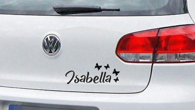 AUFKLEBER Auto Tattoo DUB FUN Sticker Car Baby Kinder Name Wunschname Kids 55