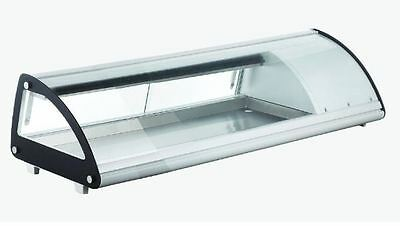Omcan Rs-cn-0043-sc 45 Refrigerated Curved Glass Sushi Display Case Brand New