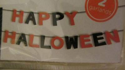 HAPPY HALLOWEEN 2 PACK GARLAND DECORATION 6 FT EACH