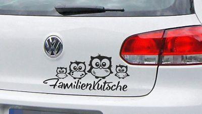 AUFKLEBER Auto Tuning Tattoo JDM OEM Sticker Eule Uhu Familie Familiekutsche 36