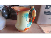 Rare Burleigh ware pottery Parrot Jug