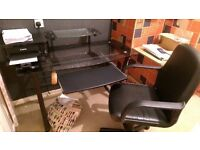 Glass Top Computer Desk and Chair - £35 !!!