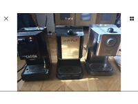 3 gaggia coffee machines not working