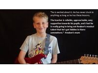 Exciting guitar lessons will make your child smarter
