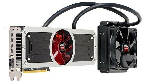Grafikkarte, AMD R9 295x2, Wassergekühlt, Ideal für Kryptomining