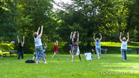 FREE, POP-UP, YOGA with Cia! class in the Gardens