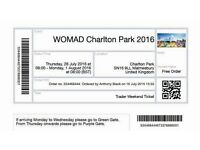 1 Womad 2016 ticket for sale