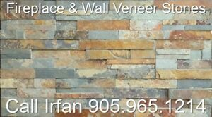 Rustic Brown Fireplace Veneer Stone Ledger Wall Decoration Stone